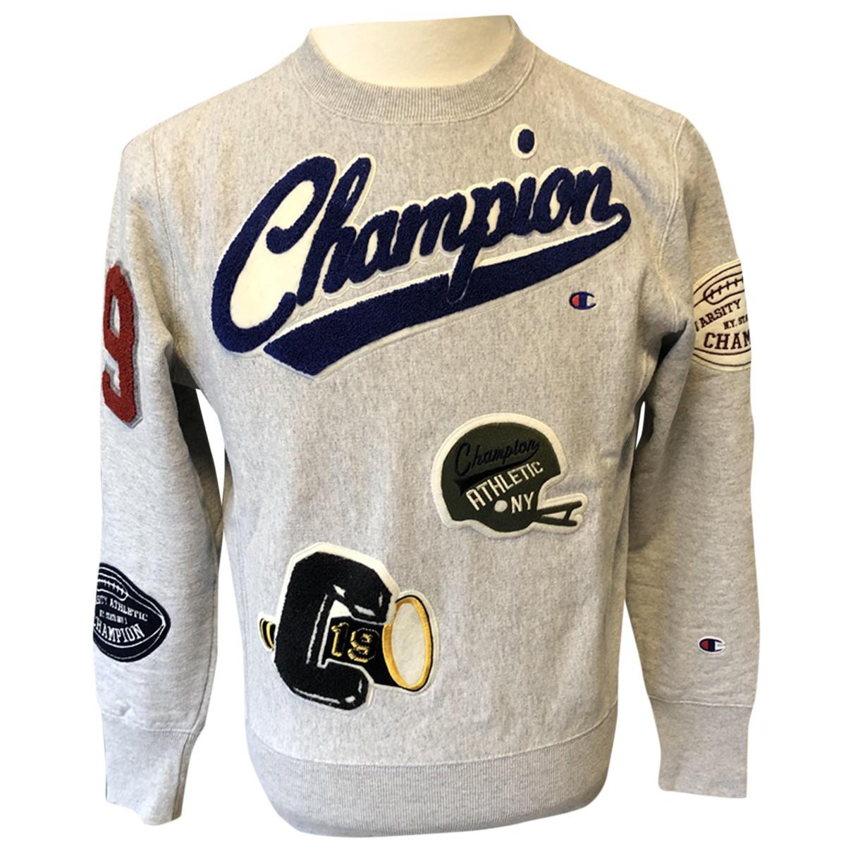 Champion - Pulls.Gilets.Sweats   pour homme en coton - gris