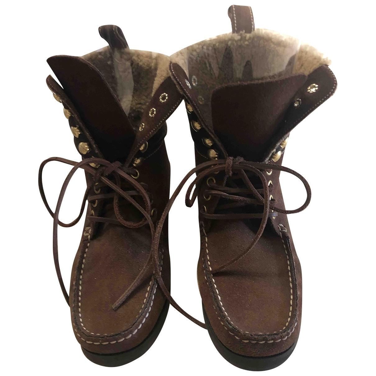 Carshoe - Bottes   pour femme en suede - marron