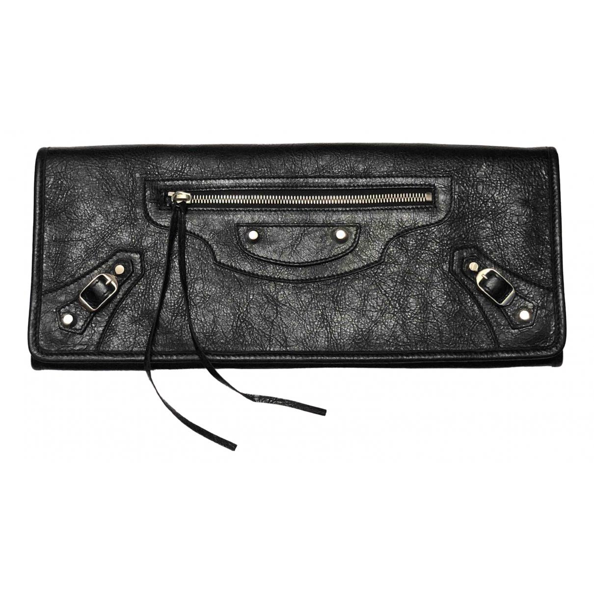 Balenciaga \N Clutch in  Schwarz Leder