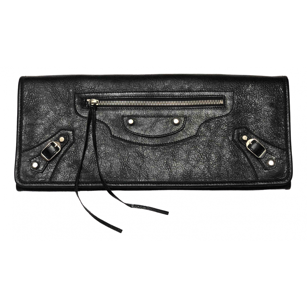 Balenciaga - Pochette   pour femme en cuir - noir