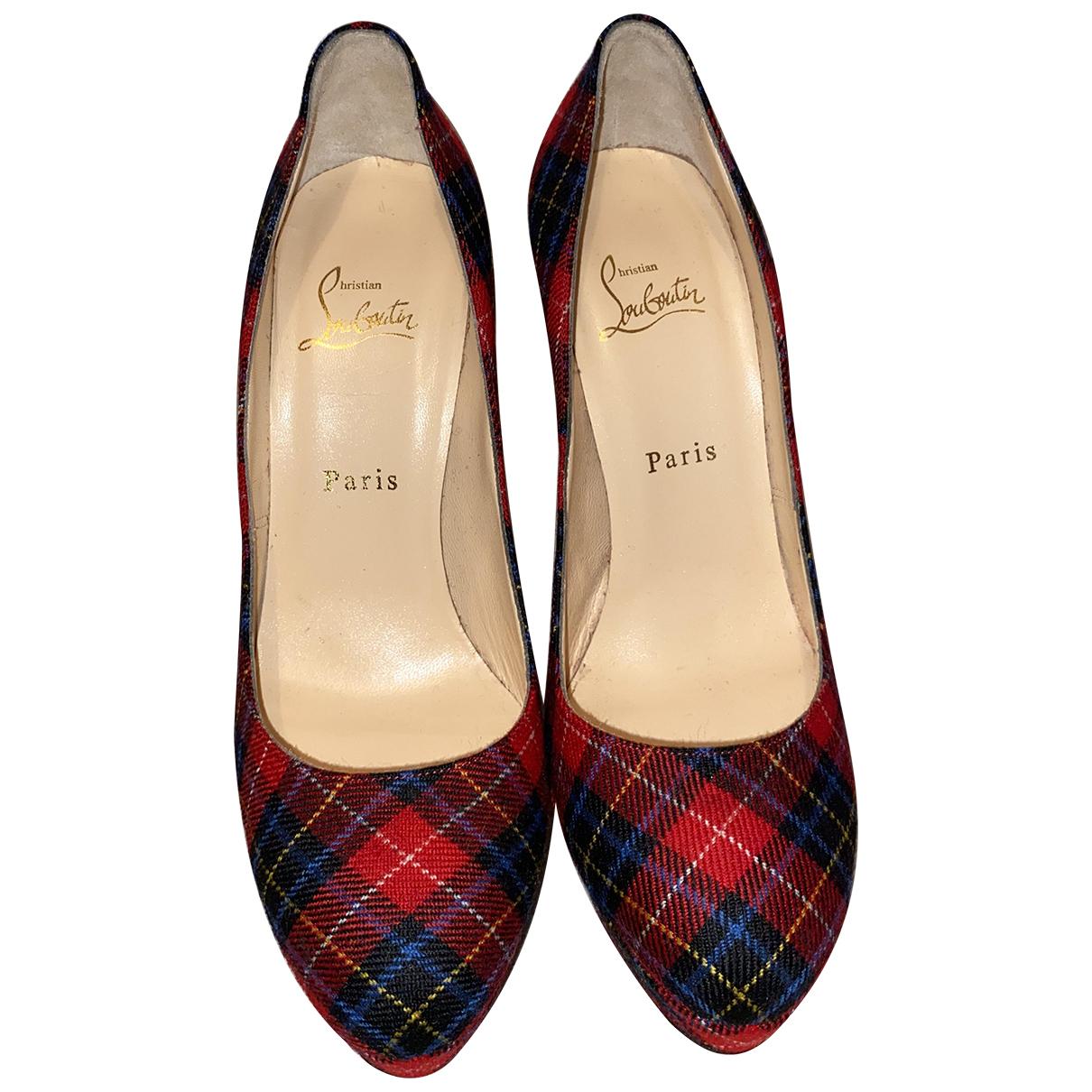 Christian Louboutin \N Red Cloth Heels for Women 38.5 EU