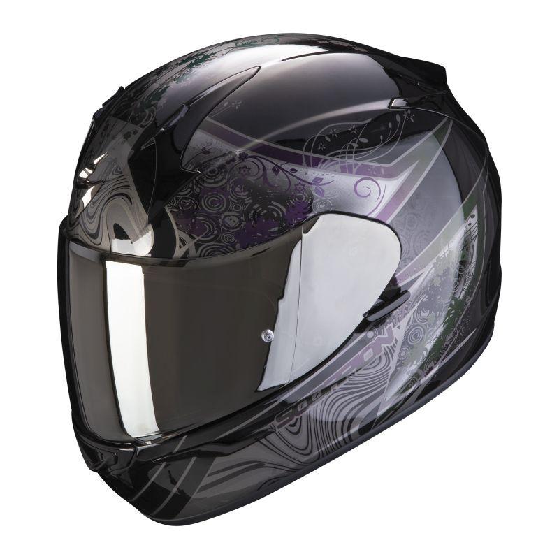 Scorpion EXO-390 Clara Black Silver Full Face Helmet S