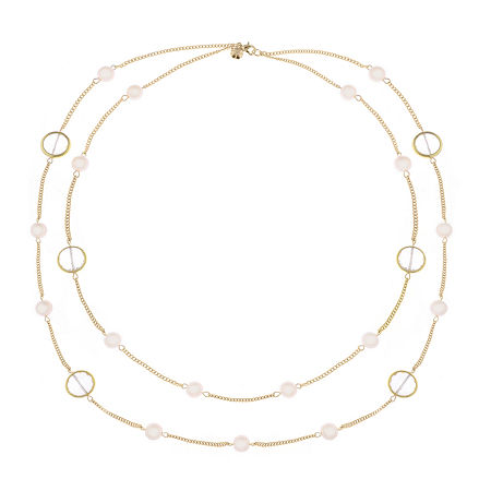 Monet Jewelry 32 Inch Curb Strand Necklace, One Size , Pink