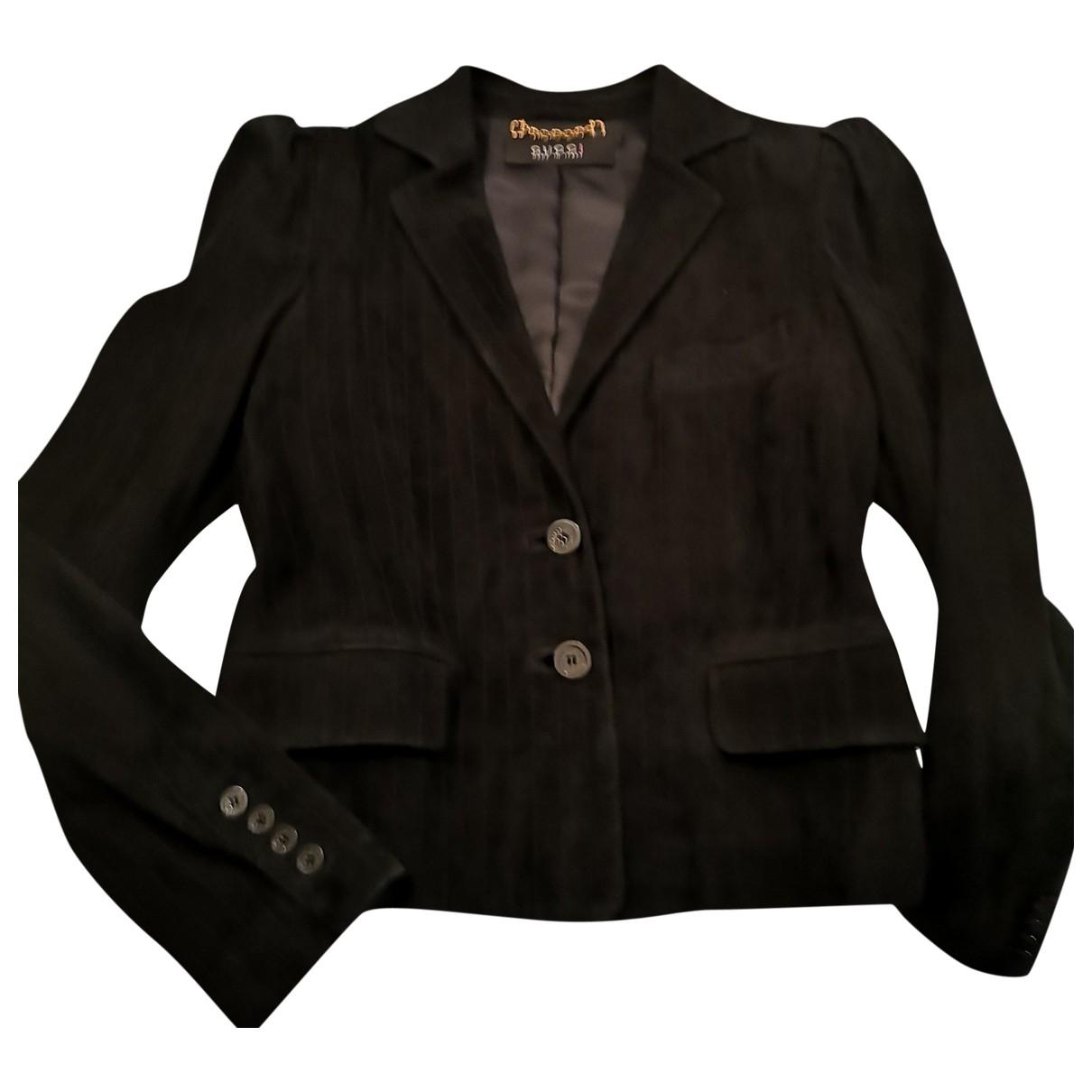 Gucci \N Black Leather jacket for Women 38 FR
