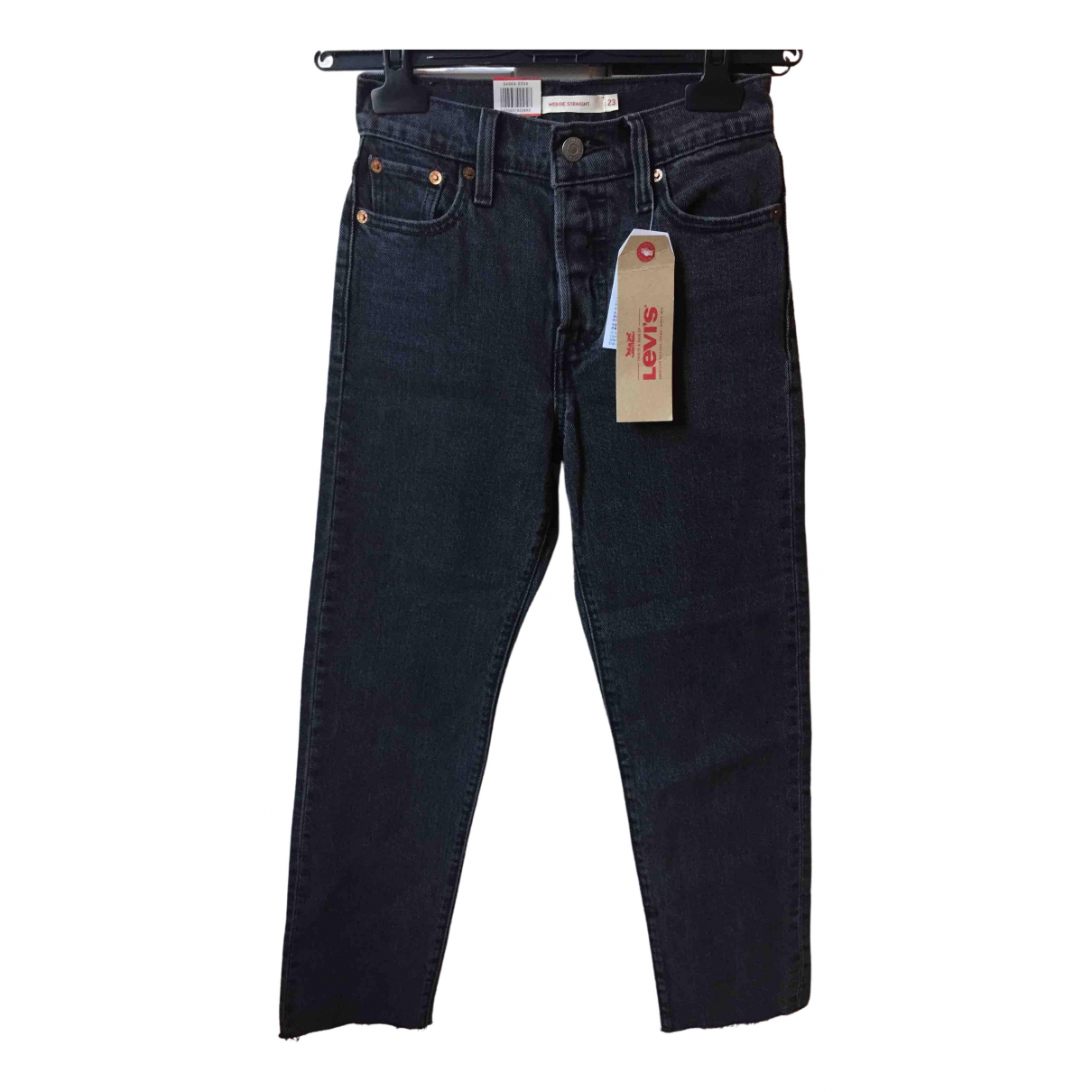 Levi's \N Anthracite Denim - Jeans Jeans for Women 24 US