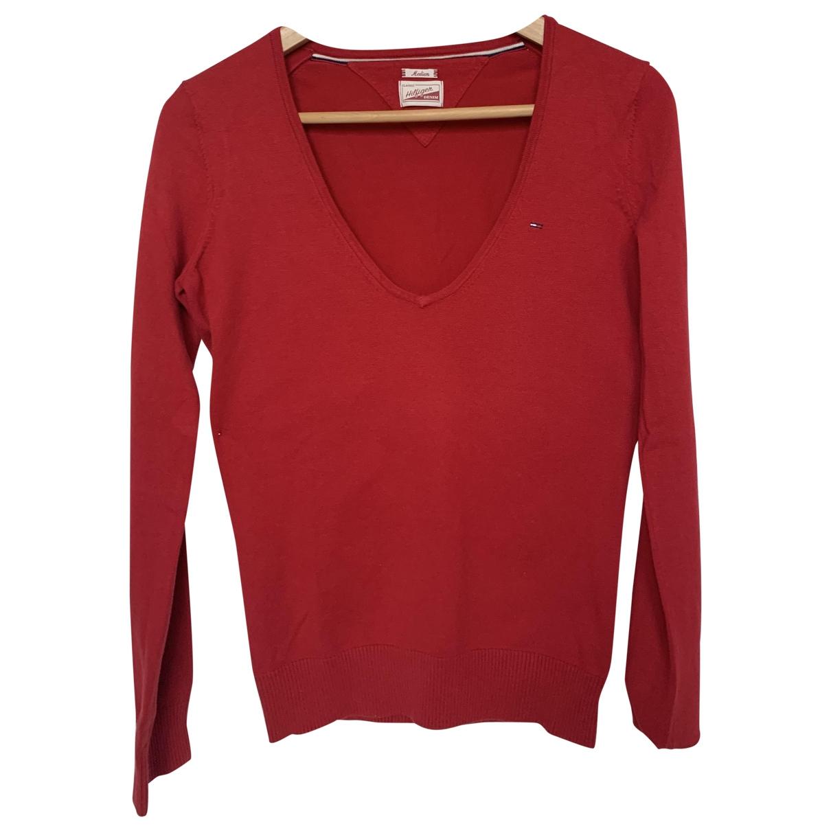 Tommy Hilfiger \N Red Cotton Knitwear for Women M International