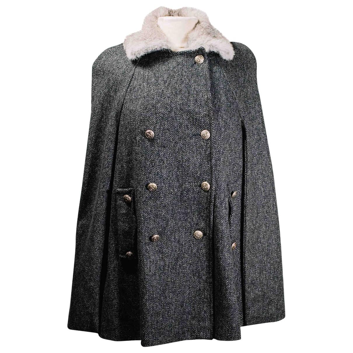 Sandro \N Maentel in  Grau Wolle
