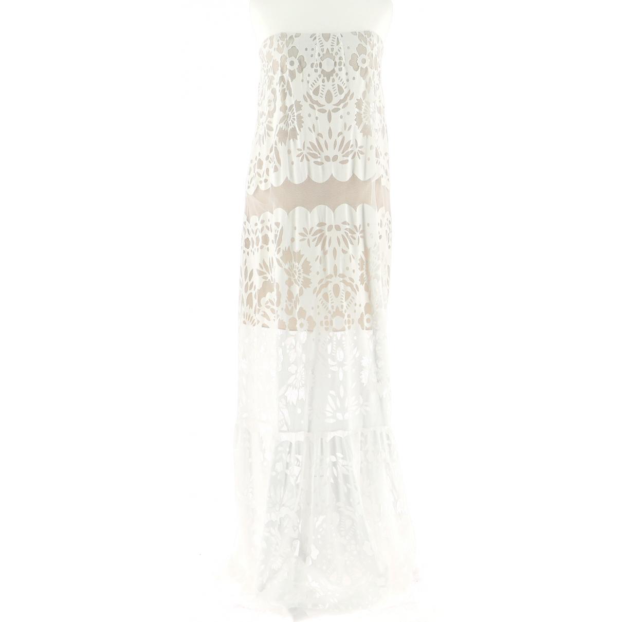 Bcbg Max Azria \N Kleid in  Weiss Baumwolle