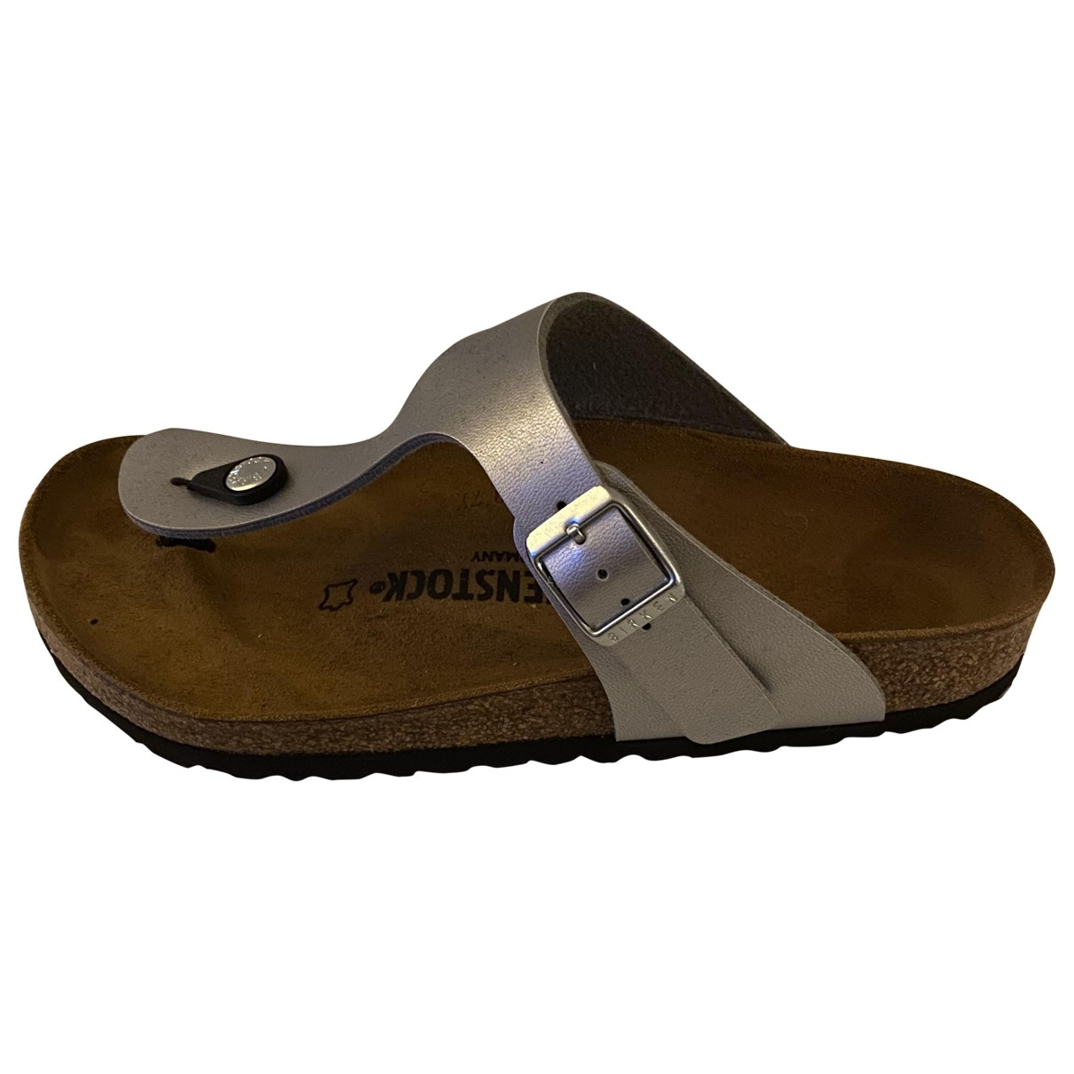 Birkenstock - Sandales   pour femme en cuir - argente