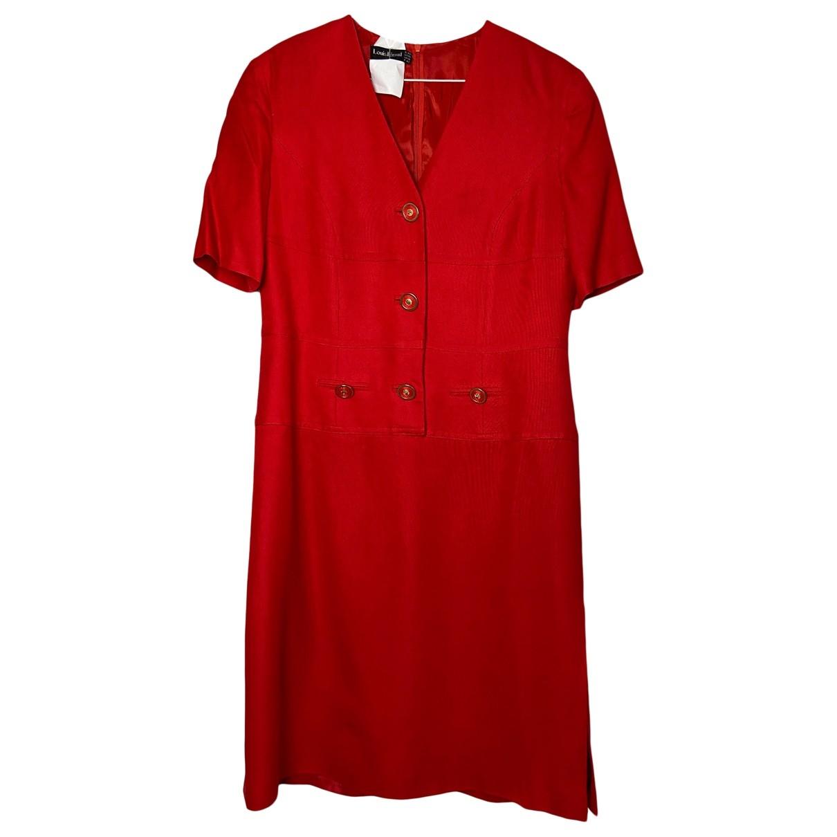 Louis Feraud \N Kleid in  Rot Viskose