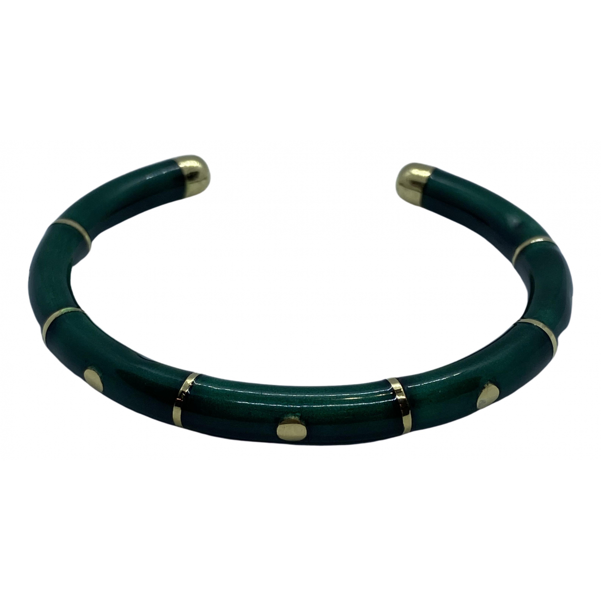 Non Signe / Unsigned Jonc Armband in  Gruen Gelbgold