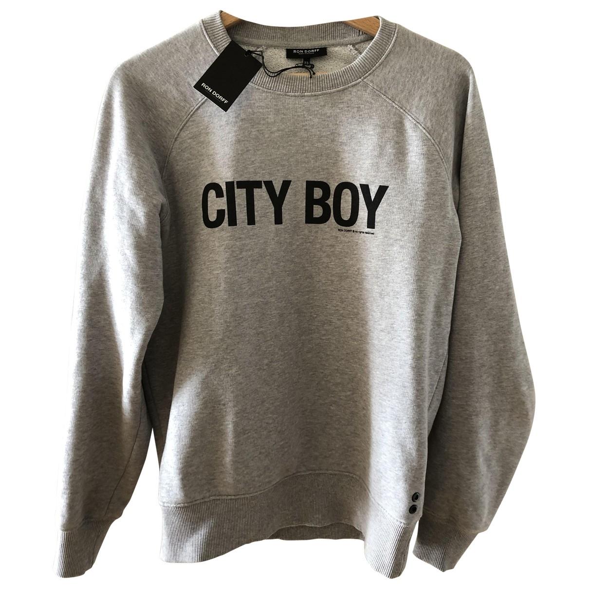Ron Dorff \N Pullover.Westen.Sweatshirts  in  Grau Baumwolle