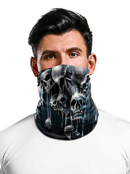 Milanoo Cycling Accessories Face Veil Bandana Skull Print Motorcycle Riding Biker Fishing Hunting Outdoor Tube Covering
