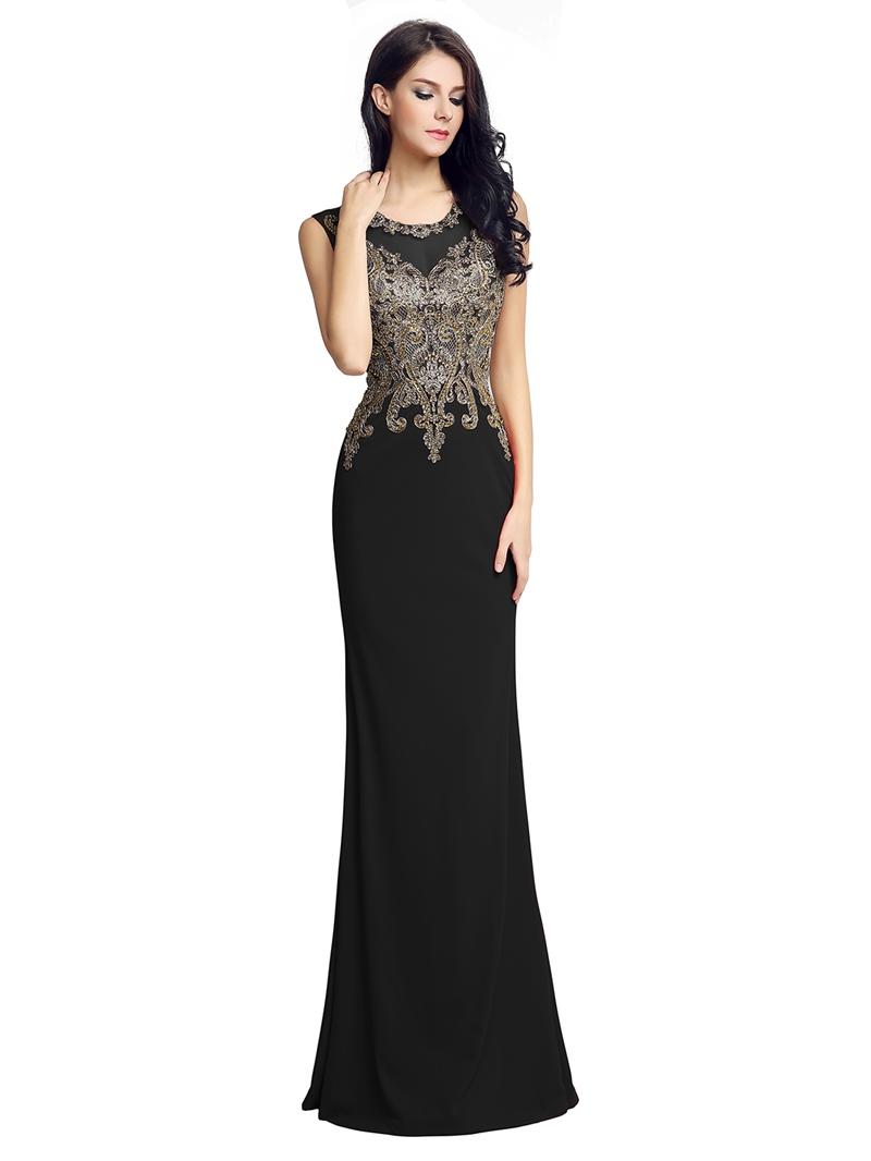 Ericdress Appliques Sleeveless Evening Dress