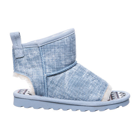 Bearpaw Womens Molly Booties Flat Heel, 10 Medium, Blue