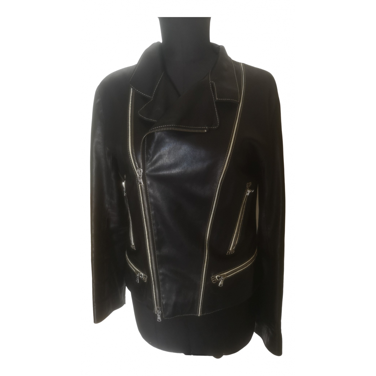 Tod's \N Black Leather jacket for Women 42 IT