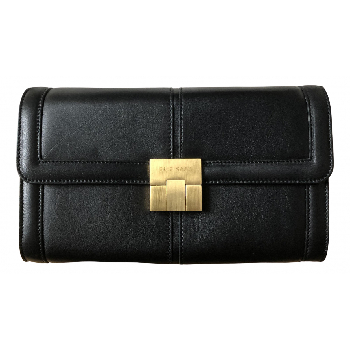Elie Saab N Black Leather Clutch bag for Women N