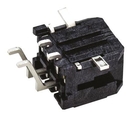 Molex , Micro-Fit 3.0, 43045, 4 Way, 2 Row, Right Angle PCB Header (5)