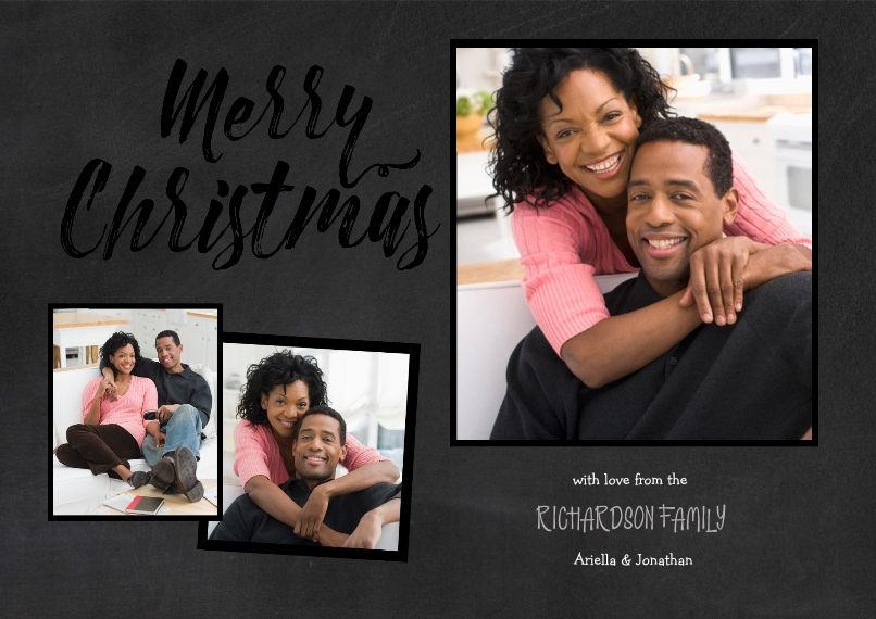 Christmas Photo Cards Set of 20, Premium 5x7 Foil Card, Card & Stationery -Merry Christmas Gold Frames