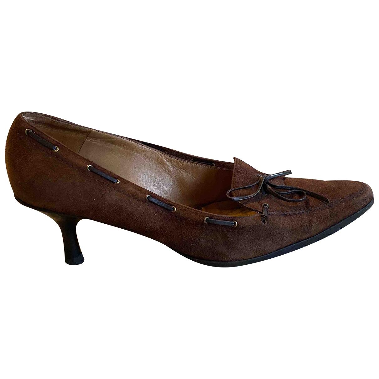 Balenciaga \N Brown Suede Heels for Women 38 EU