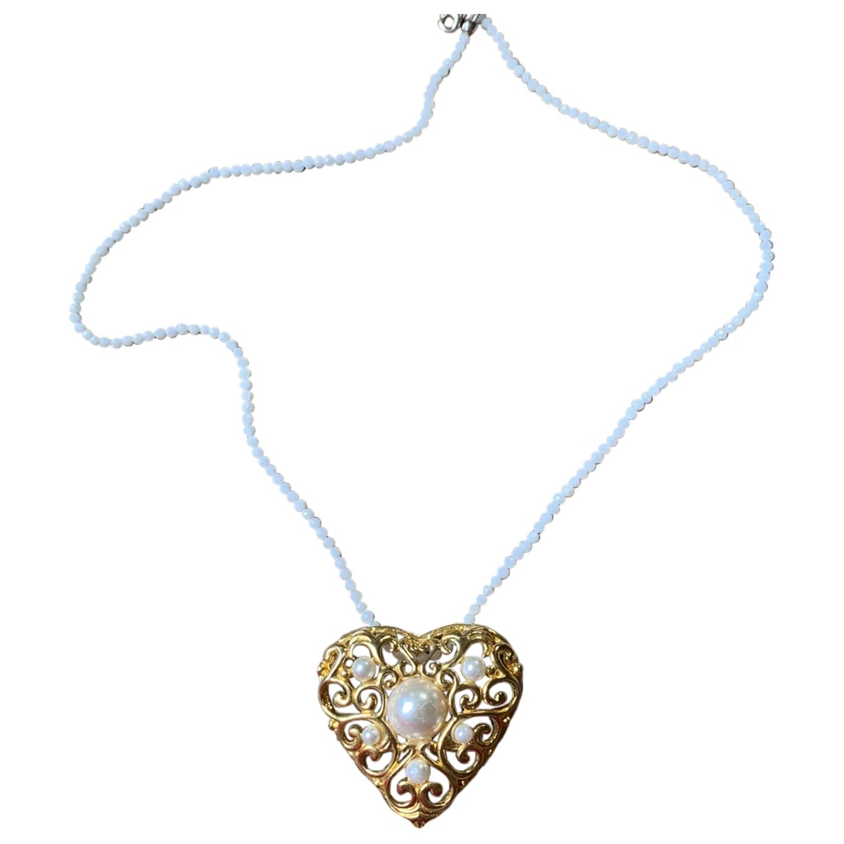 - Pendentif Motifs Coeurs pour femme en acier - dore