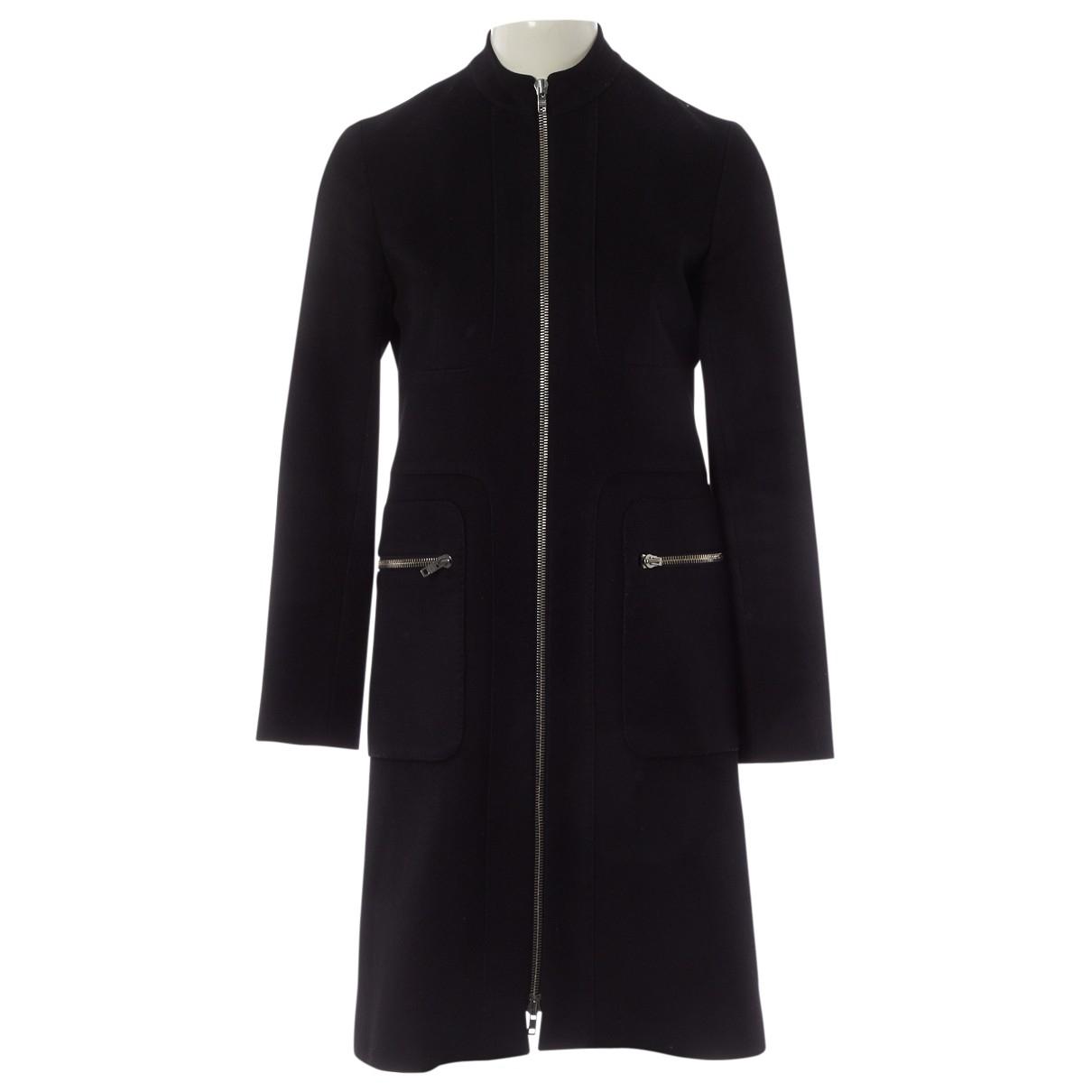 Celine \N Black Wool coat for Women 38 FR
