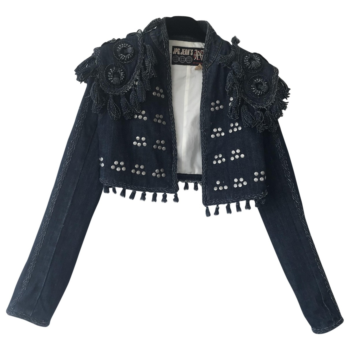 Jean Paul Gaultier \N Blue Denim - Jeans jacket for Women 42 IT