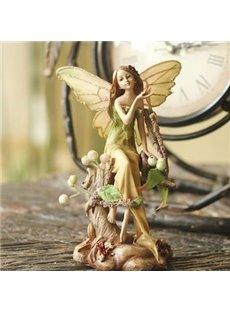Pretty Forest Angel Desktop Decoration