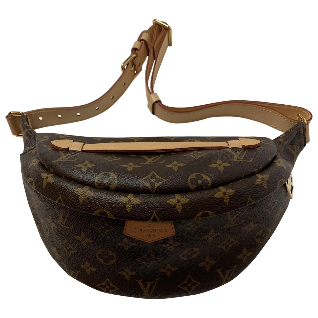 Louis Vuitton Bum Bag / Sac Ceinture Clutch in  Braun Leinen