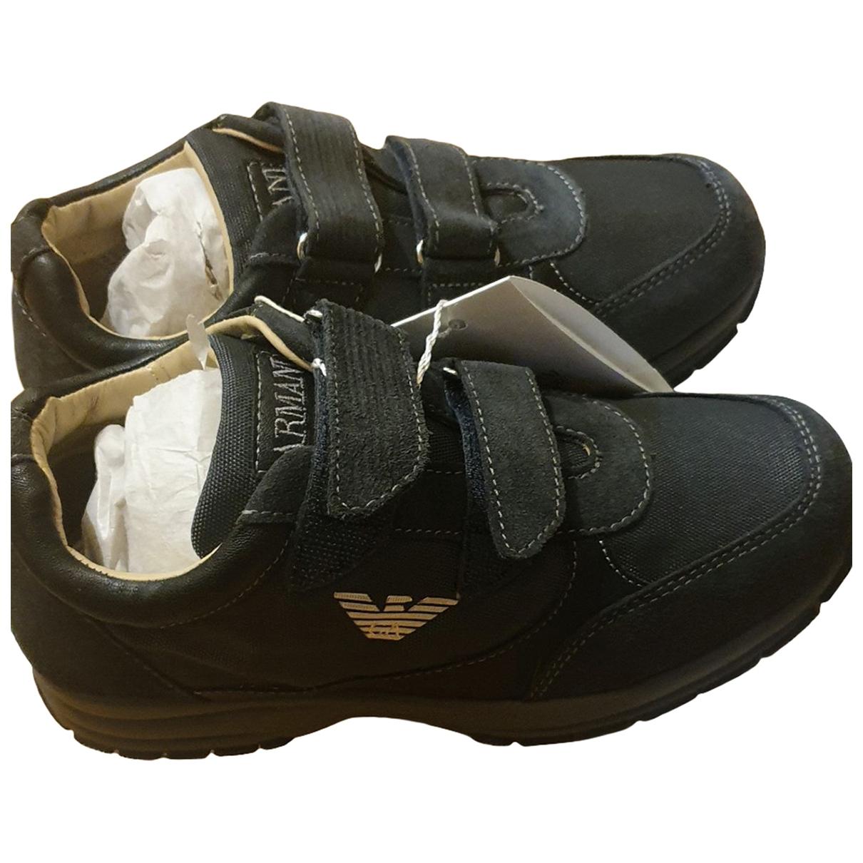 Armani Jeans \N Sneakers in  Blau Veloursleder