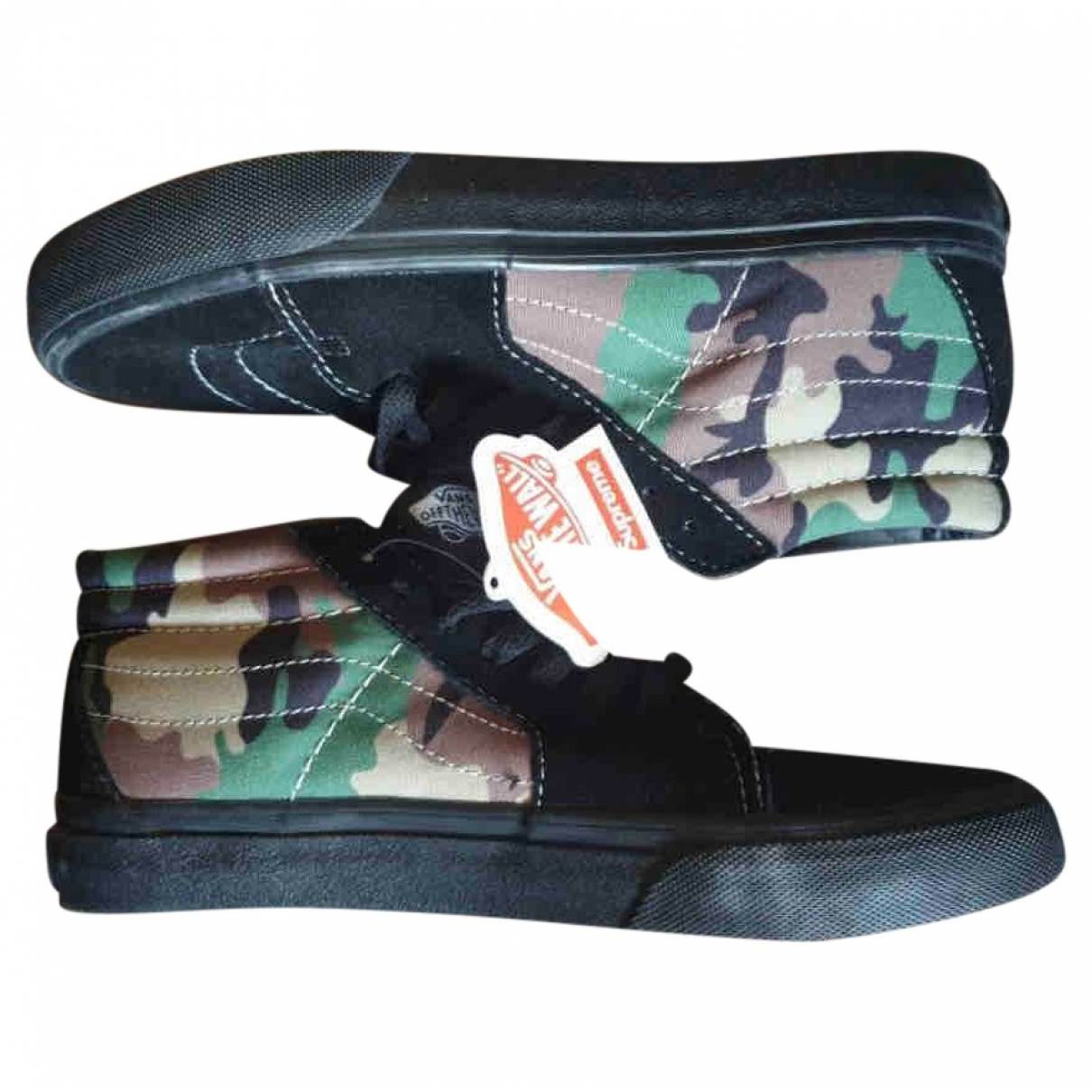 Vans X Supreme \N Sneakers in  Schwarz Leinen