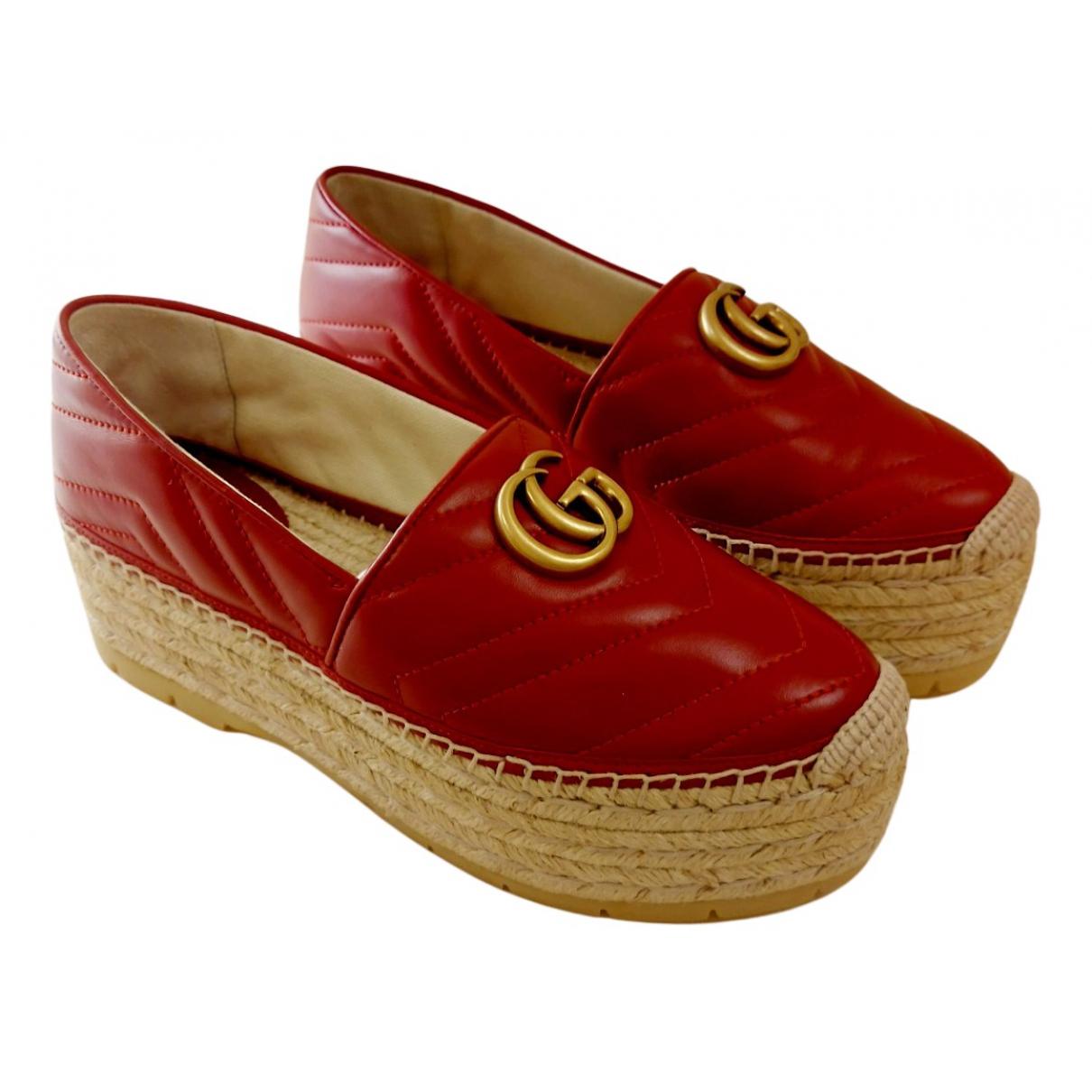 Gucci \N Espadrilles in  Rot Leder