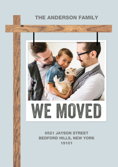 Moving 5x7 Cards, Premium Cardstock 120lb with Elegant Corners, Card & Stationery -Moving Sign