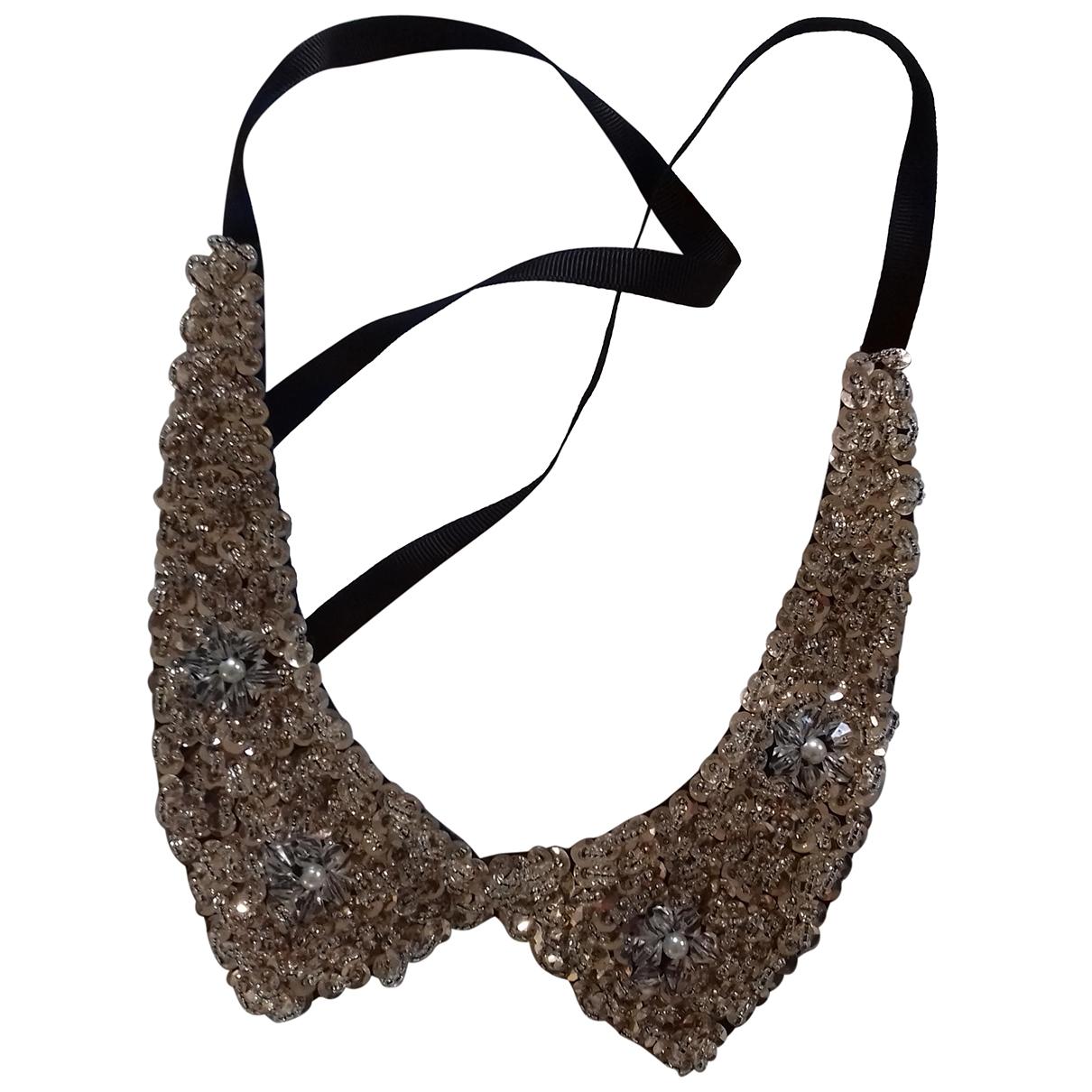 - Collier Motifs Floraux pour femme en metal - blanc