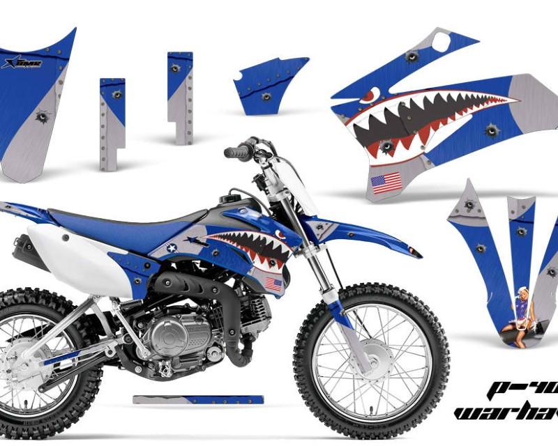 AMR Racing Dirt Bike Graphics Kit Decal Sticker Wrap For Yamaha TTR110 2008-2018áWARHAWK BLUE
