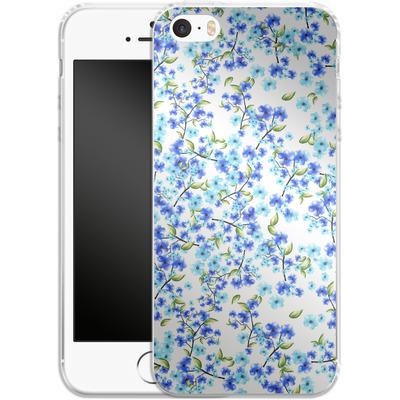 Apple iPhone 5s Silikon Handyhuelle - Blue Blooms von Mukta Lata Barua