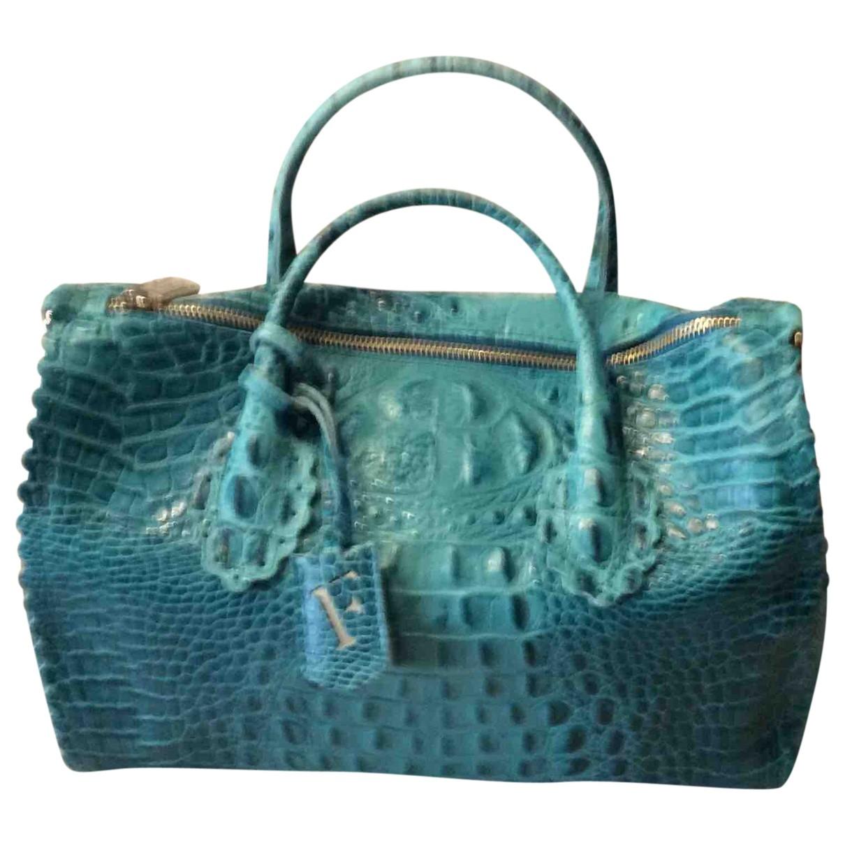 Roberta Furlanetto - Sac a main   pour femme en cuir - turquoise