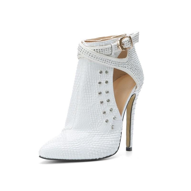 Ericdress Fashion Rhinestone Point Toe High Heel Boots