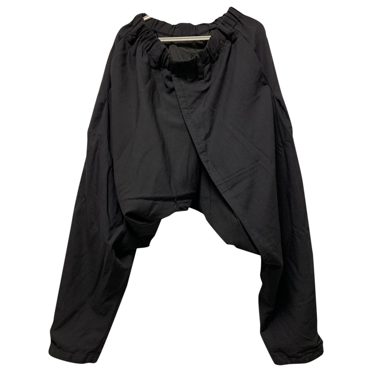 Issey Miyake \N Black Wool Trousers for Men S International