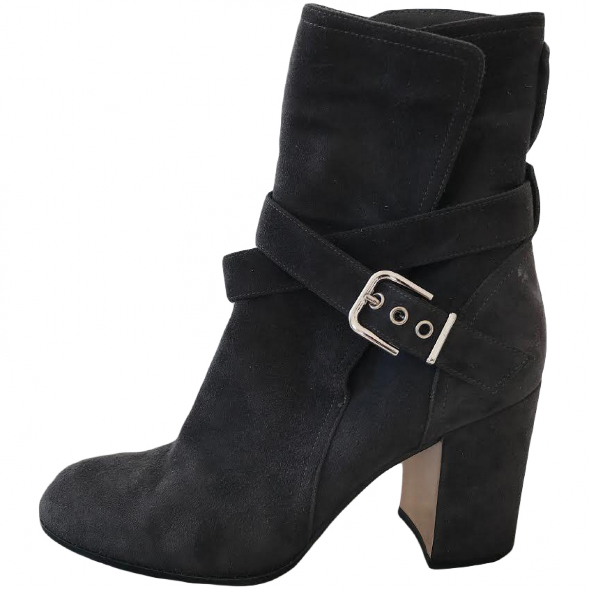 Gianvito Rossi - Boots   pour femme en suede - anthracite
