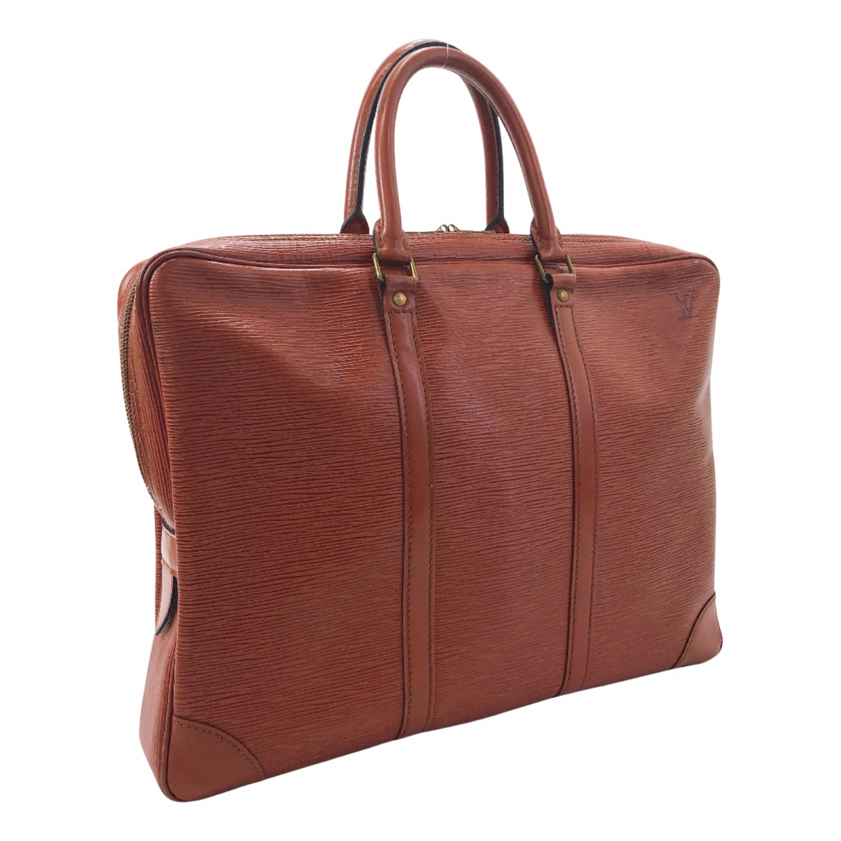 Louis Vuitton Porte Documents Voyage Brown Leather bag for Men N