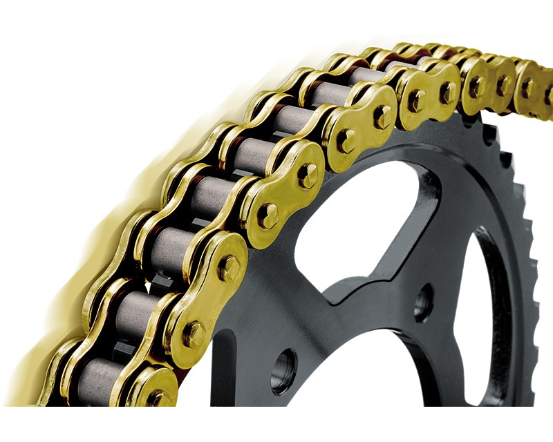 Bikemaster 525x120 BMXR Series Motorcycle Chain Gold/Gold Finish