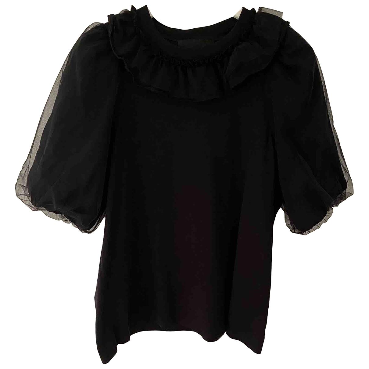 Simone Rocha - Top   pour femme en coton - noir