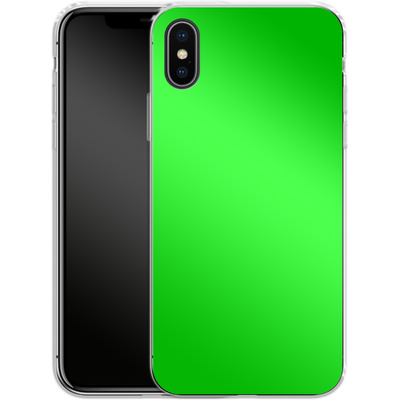 Apple iPhone X Silikon Handyhuelle - Test Green von caseable Designs