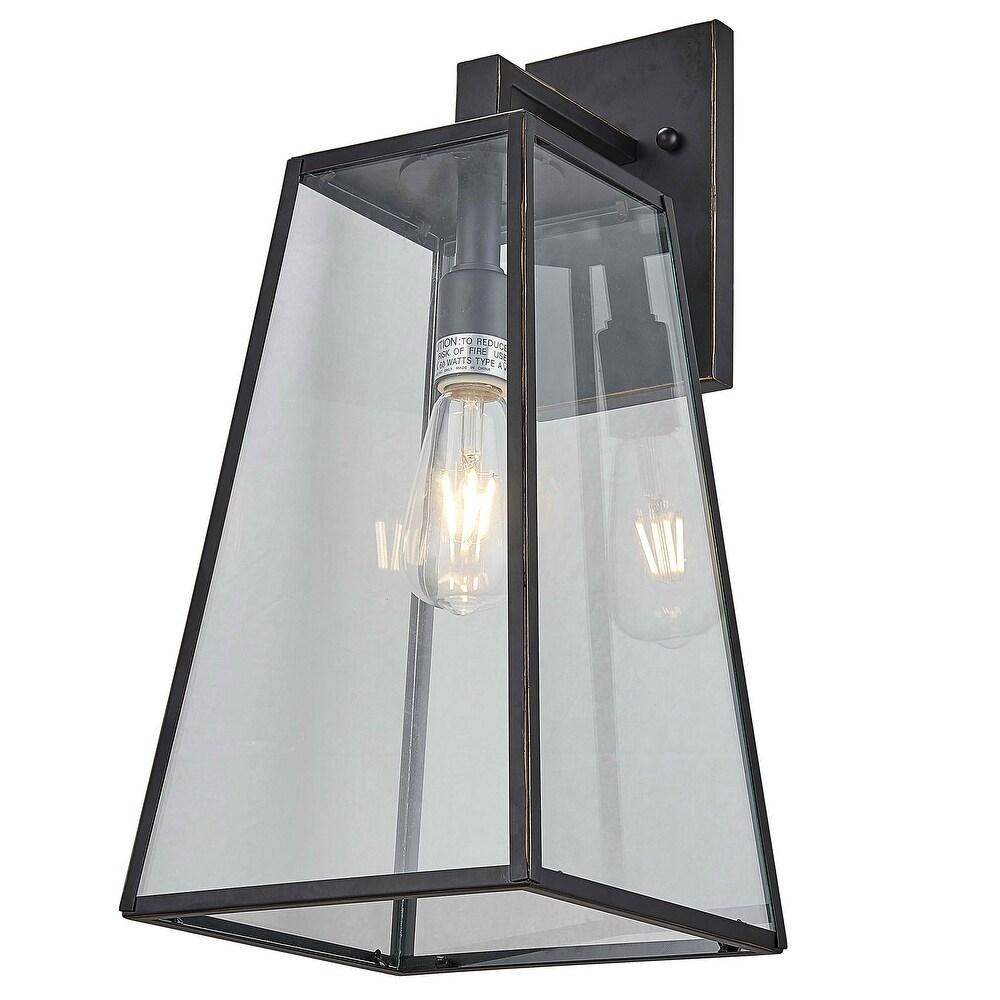 1 Light Outdoor Wall Lantern in Imperial Black Finish (Black)