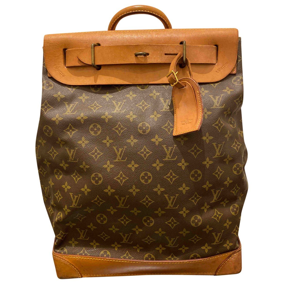 Louis Vuitton - Sac de voyage Steamer pour femme en toile - marron