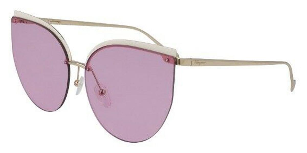 Salvatore Ferragamo SF 195S 702 Women's Sunglasses Gold Size 64