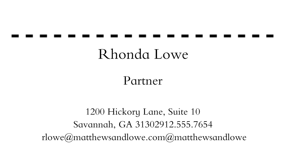 Professional Services Business Cards, Set of 40, Silk Rounded, Card & Stationery -Simple Type 2