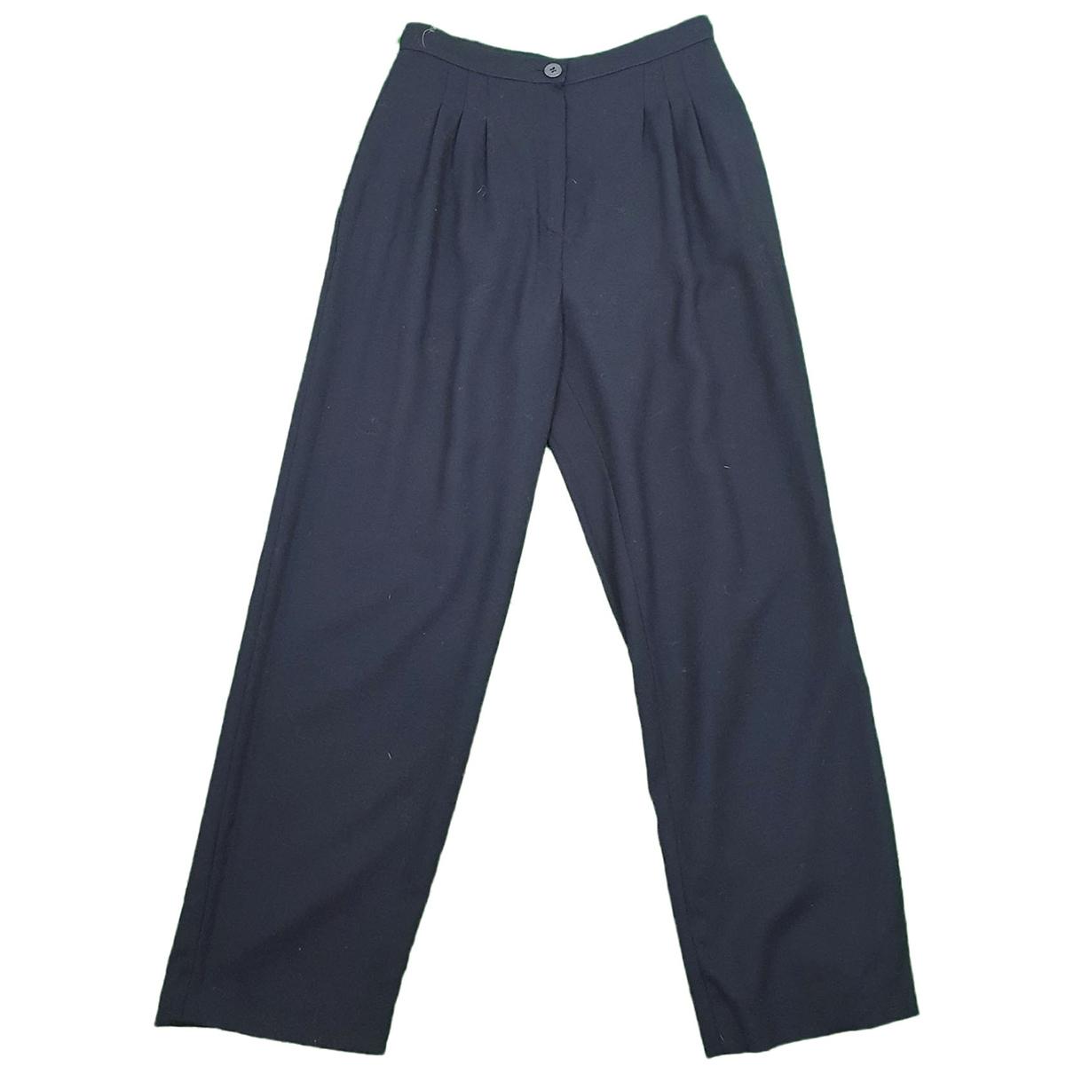 Krizia \N Blue Wool Trousers for Women 42 IT