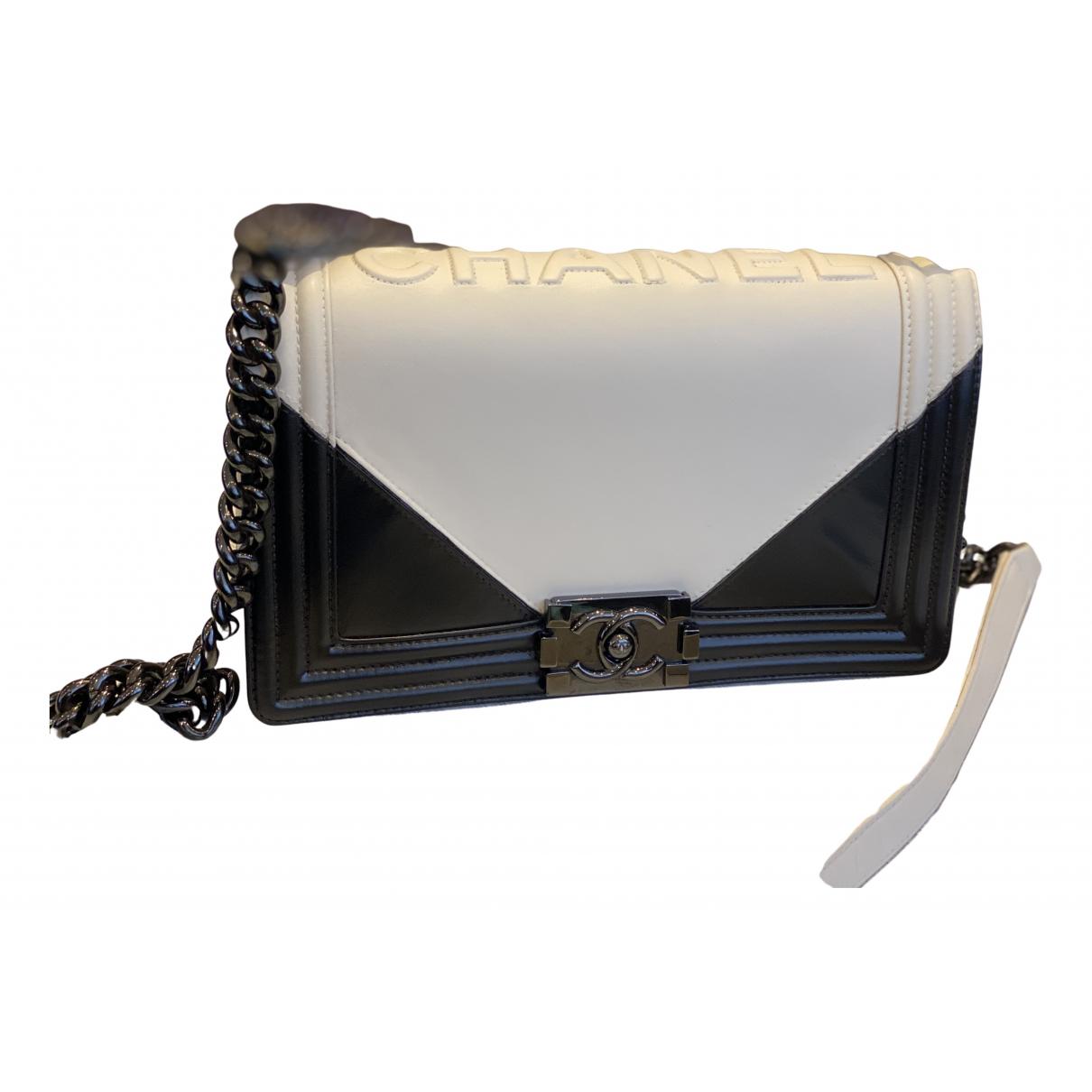 Chanel - Sac a main Boy pour femme en cuir - blanc